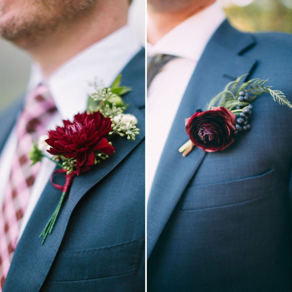 Fall Grooms boutonniere
