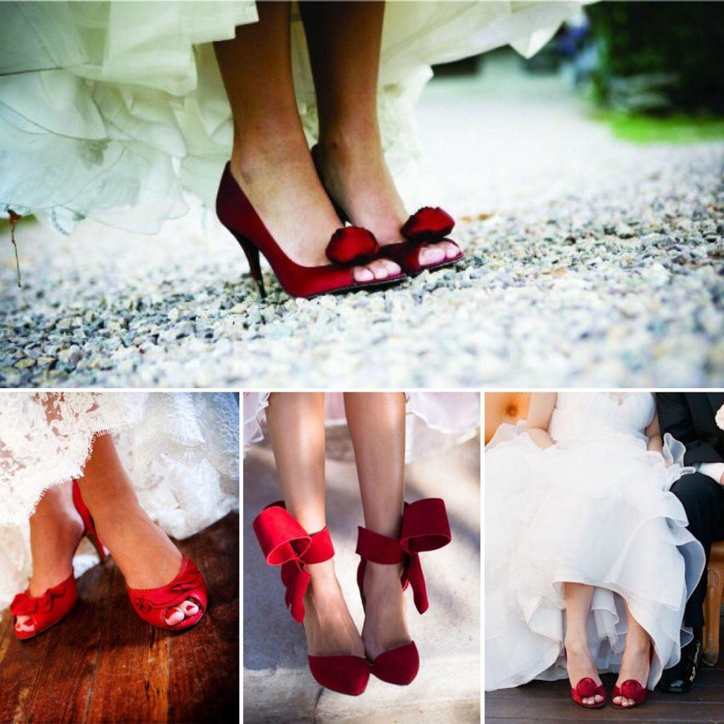 Zapatos rojos novias