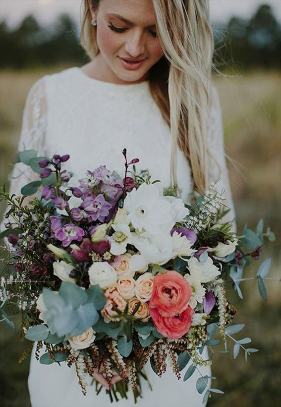 bohemian bride bouquet