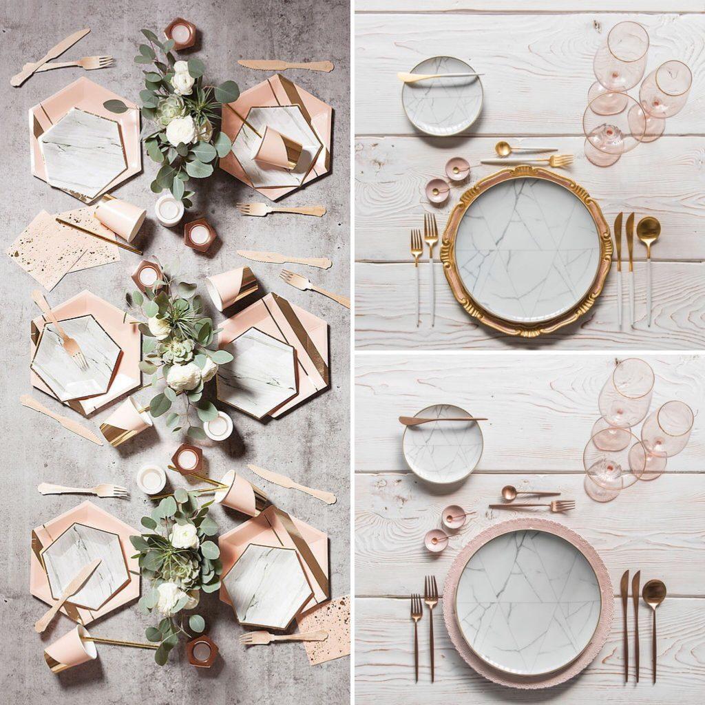 Inspiracion mesas de boda con marmol
