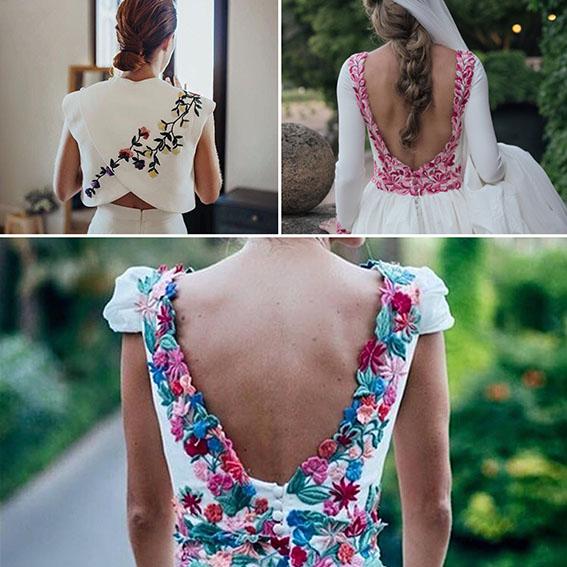 A Todo Color Vestidos De Novia Con Flores De Colores