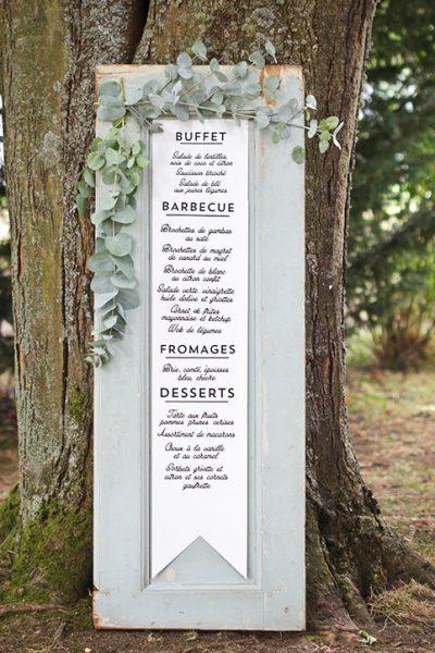 Weding menu