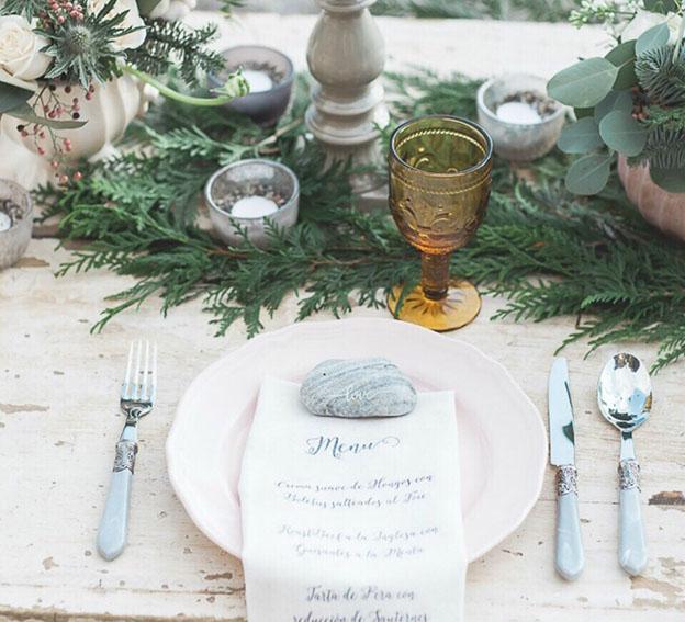 Minutas de boda originales