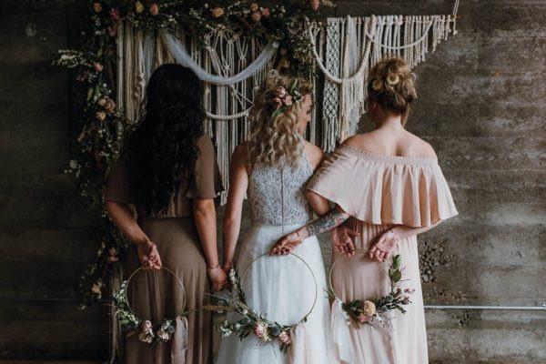 Ramos de novia circulares