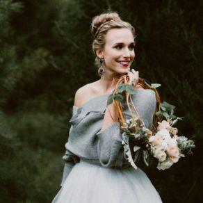 Bridal hoop bouquet
